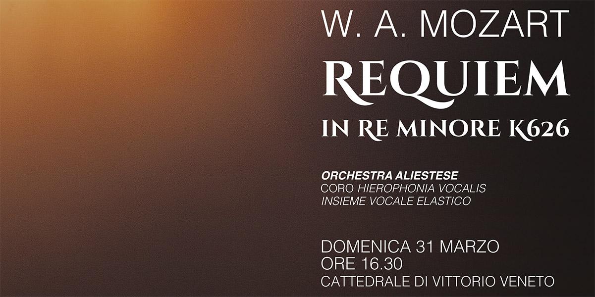Locandina per Requiem Mozart Vittorio Veneto 31 marzo 2019 di Associazione Phileo
