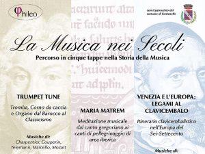 Programma Rassegna concertistica a Fontanelle Treviso Musiche dal Barocco al Romanticismo